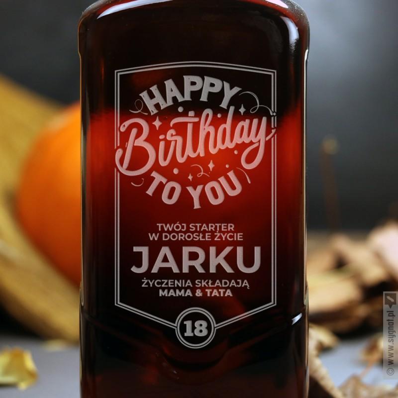 Zdjęcie produktu Happy Birthday - grawerowana whisky Ballantine's na urodziny