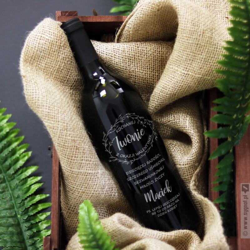 Zdjęcie produktu Grawerowane wino dla niej na Walentynki