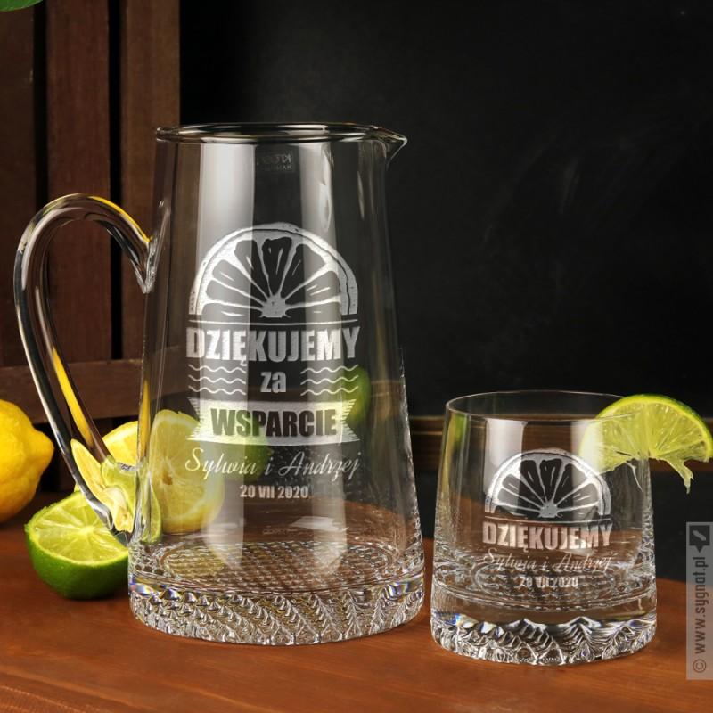 Zdjęcie produktu Orange - personalizowany dzbanek w komplecie z 6 szklankami