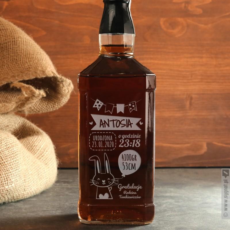 Zdjęcie produktu Gratulacje - grawerowana whiskey z okazji narodzin dziecka
