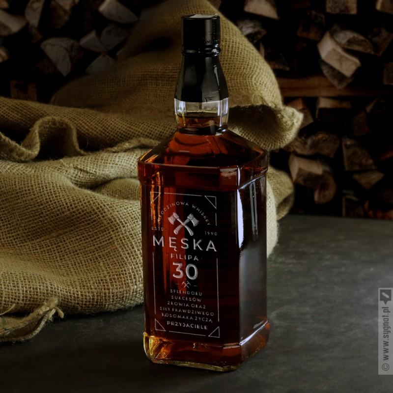 Zdjęcie produktu Urodzinowa Męska - grawerowana whiskey na urodziny