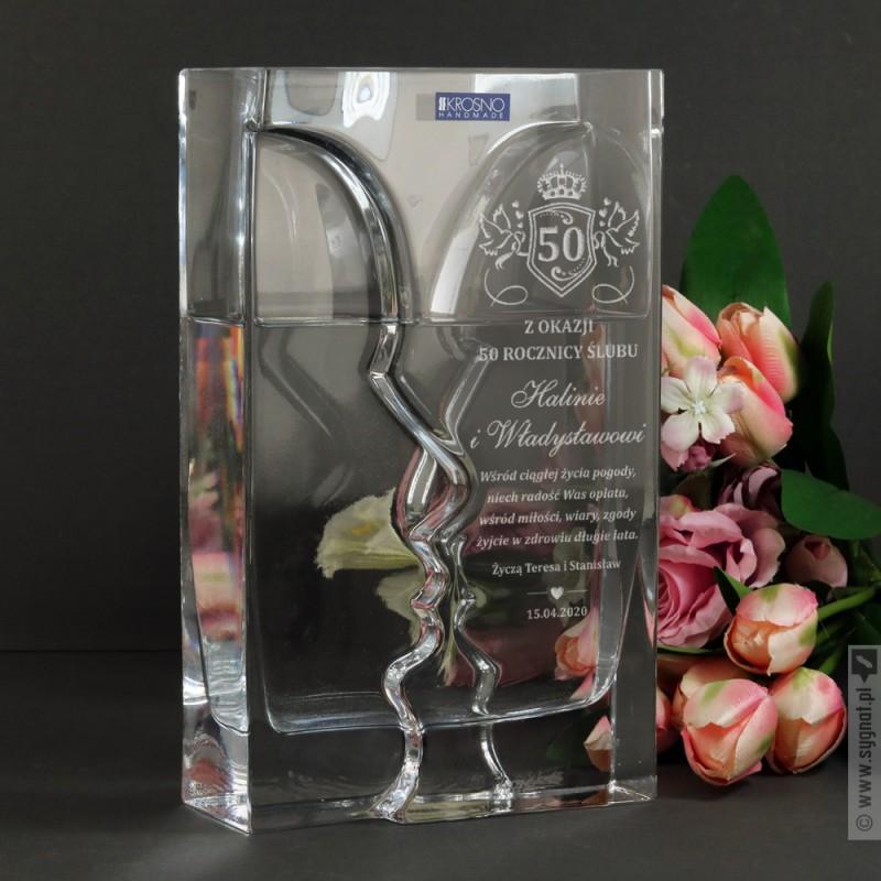 Zdjęcie produktu Faces - grawerowany wazon z personalizacją z okazji rocznicy