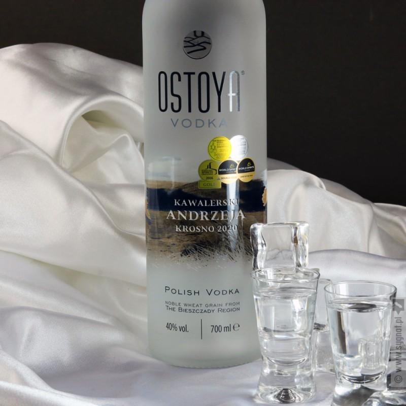 Zdjęcie produktu Wódka Kawalerska - grawerowana OSTOYA z personalizacją na Wieczór Kawalerski