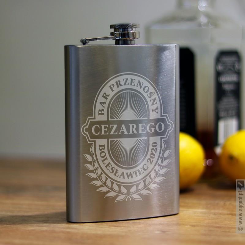 Zdjęcie produktu Bar Przenośny - grawerowana piersiówka z personalizacją