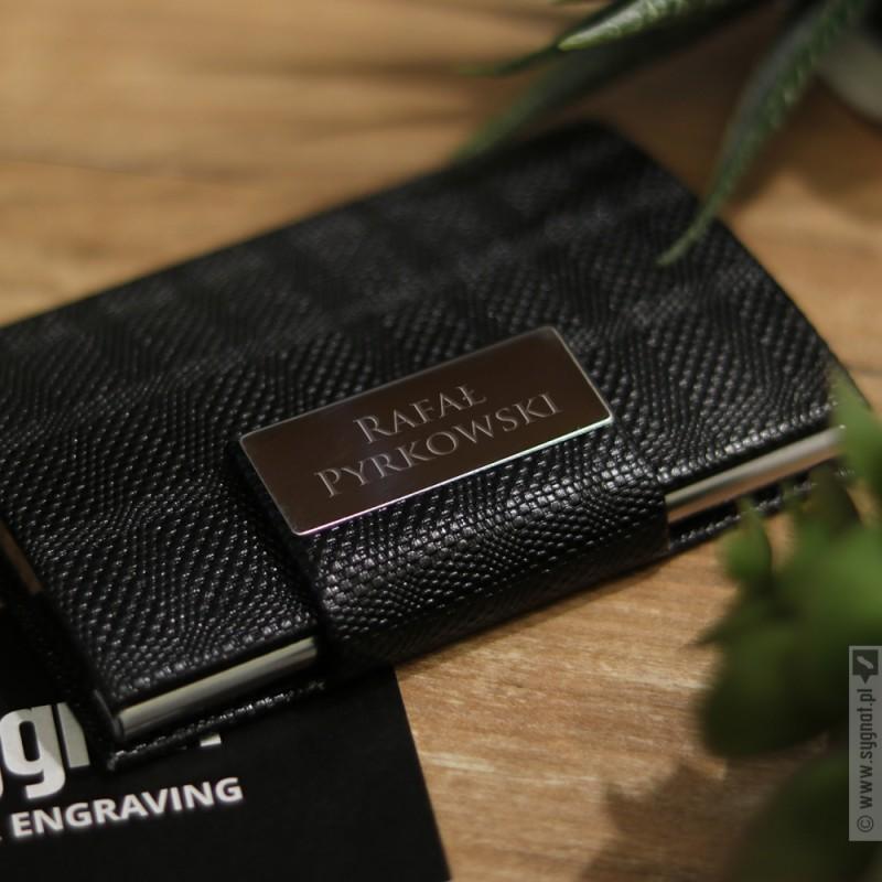 Zdjęcie produktu Personalizowany wizytownik z wygrawerowanym imieniem i nazwiskiem