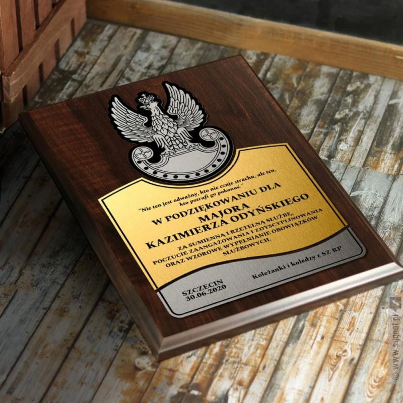 Zdjęcie produktu Grawerowany dyplom z personalizacją dla wojskowego