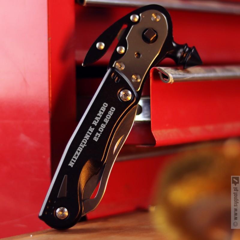 Zdjęcie produktu Niezbędnik Rambo - grawerowany multitool z dowolną personalizacją