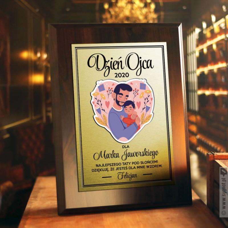 Zdjęcie produktu Najlepszy Tata Pod Słońcem - grawerowany dyplom z personalizacją