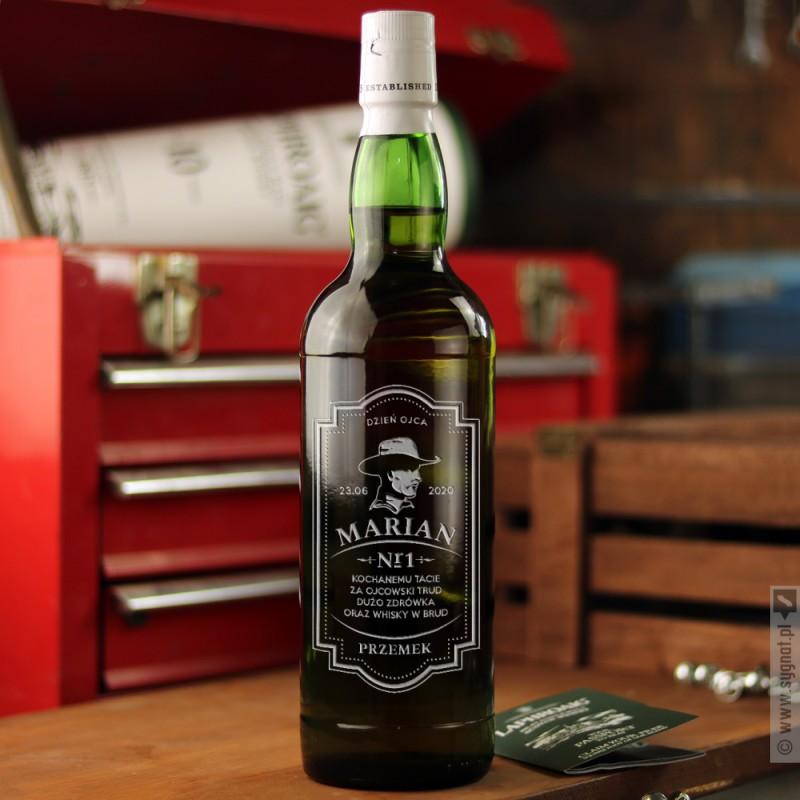 Zdjęcie produktu Number One - grawerowana whisky Laphroaig z personalizacją dla Taty