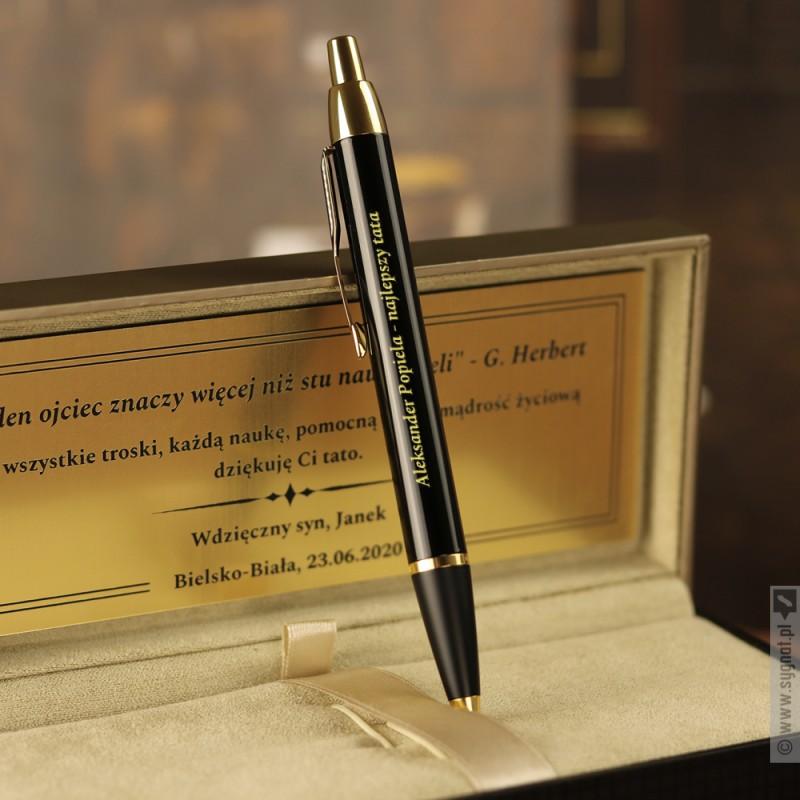 Zdjęcie produktu Personalizowany długopis Parker w grawerowanym etui, na dowolną okazję