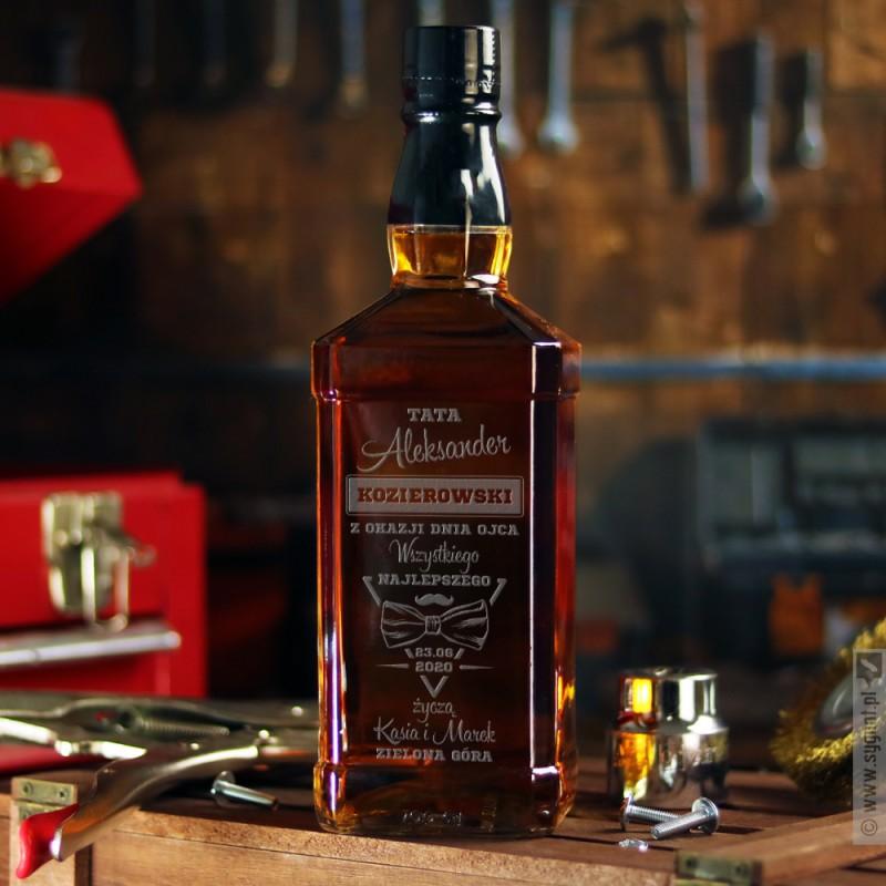 Zdjęcie produktu Wszystkiego Najlepszego - grawerowana whiskey z personalizacją na dowolną okazję