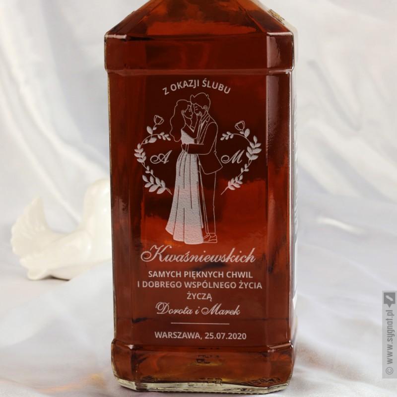 Zdjęcie produktu Wedding Day - grawerowana whiskey z personalizacją na ślub