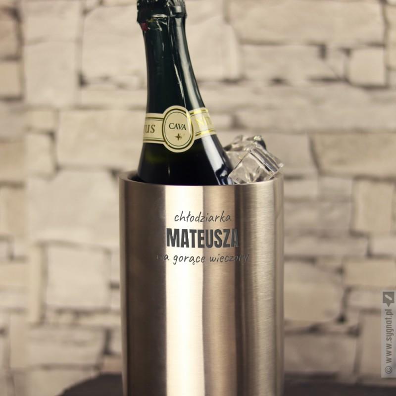 Zdjęcie produktu Gorące Wieczory - grawerowany kubełek chłodzący do wina z personalizacją
