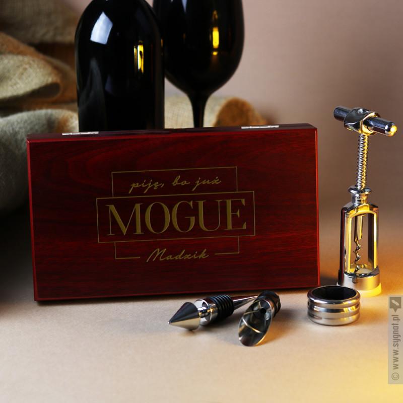 Zdjęcie produktu MOGUE - grawerowany zestaw do wina z personalizacją na 18