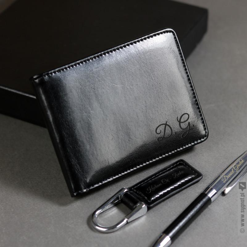 Zdjęcie produktu Chic - grawerowany zestaw upominkowy portfel, brelok, długopis