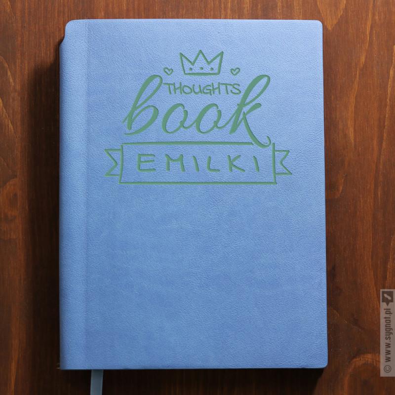 Zdjęcie produktu ThoughtsBook - grawerowany notatnik z personalizacją