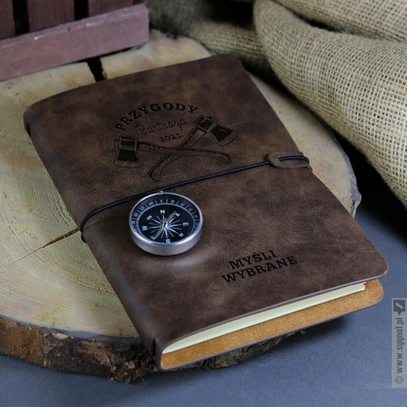 Zdjęcie produktu Myśli Wybrane - grawerowany notatnik z personalizacją