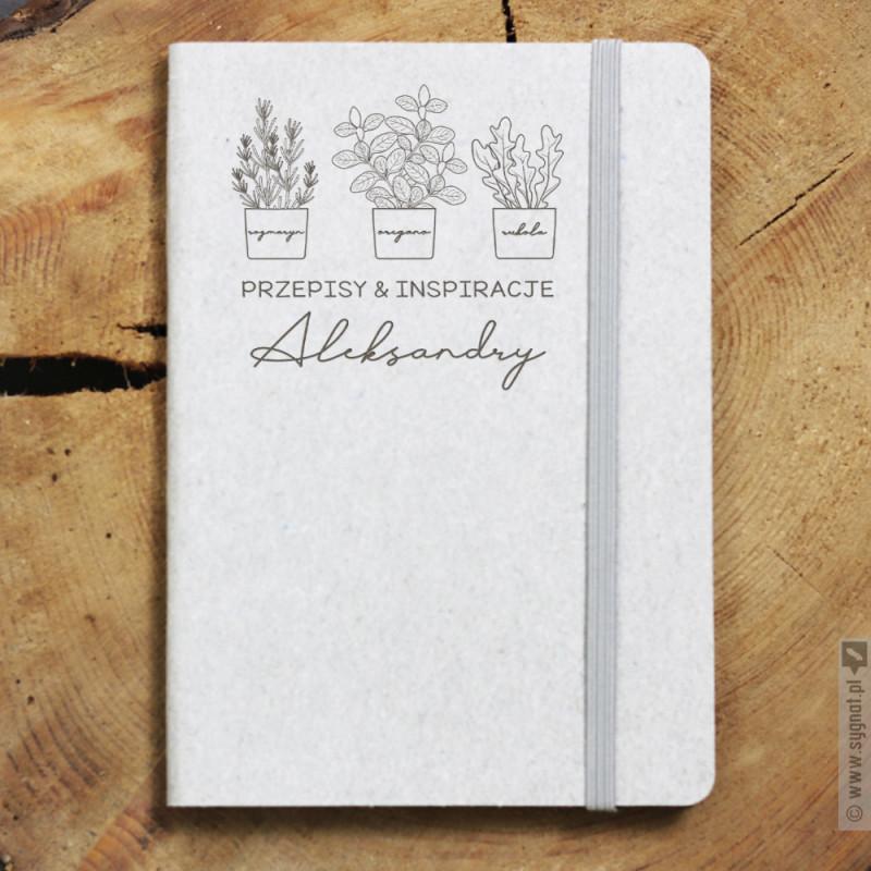 Zdjęcie produktu Przepisy & Inspiracje - grawerowany notes na przepisy