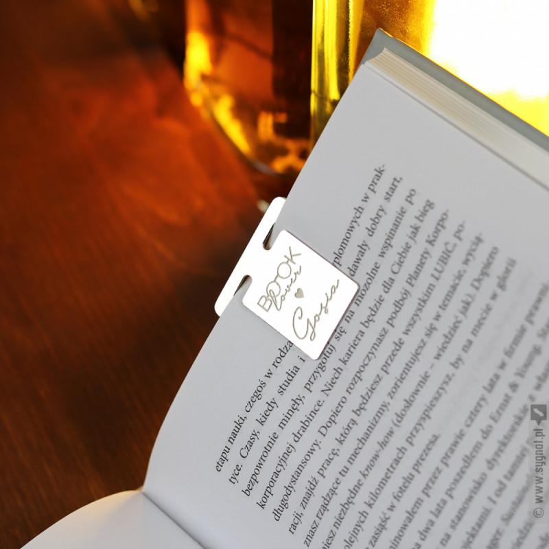 Zdjęcie produktu Booklover - grawerowana zakładka do książki metalowa