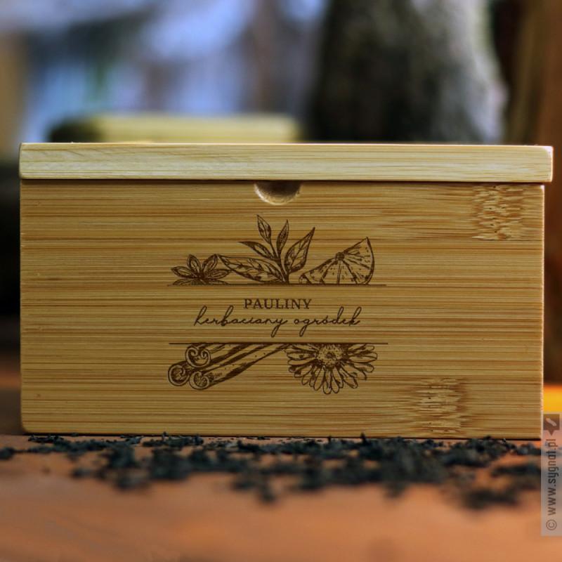 Zdjęcie produktu Herbaciany Ogródek - personalizowane pudełko na herbatę