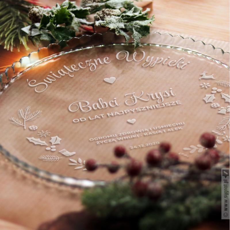 Zdjęcie produktu Świąteczne Wypieki - grawerowana patera z personalizacją na Święta