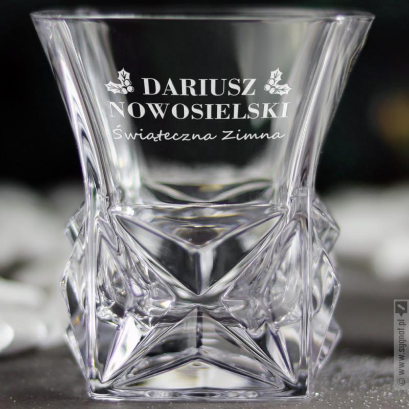 Zdjęcie produktu Świąteczna Szklana - grawerowana szklanka do whisky z personalizacją