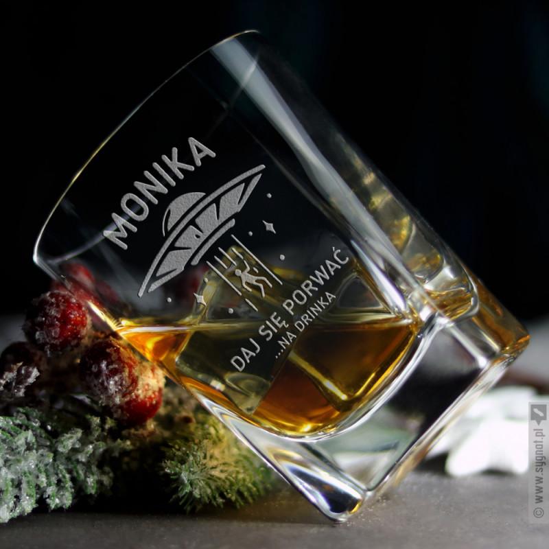 Zdjęcie produktu UFO - grawerowana szklanka z personalizacją