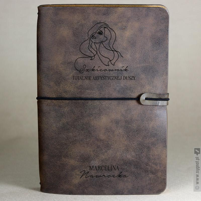 Zdjęcie produktu Szkicownik - grawerowany notatnik z personalizacją