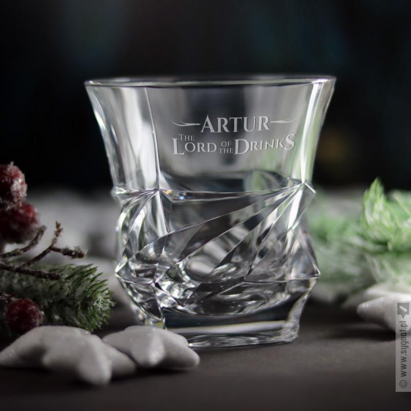 Zdjęcie produktu The Lord Of The Drinks - grawerowana szklanka do whisky z personalizacją