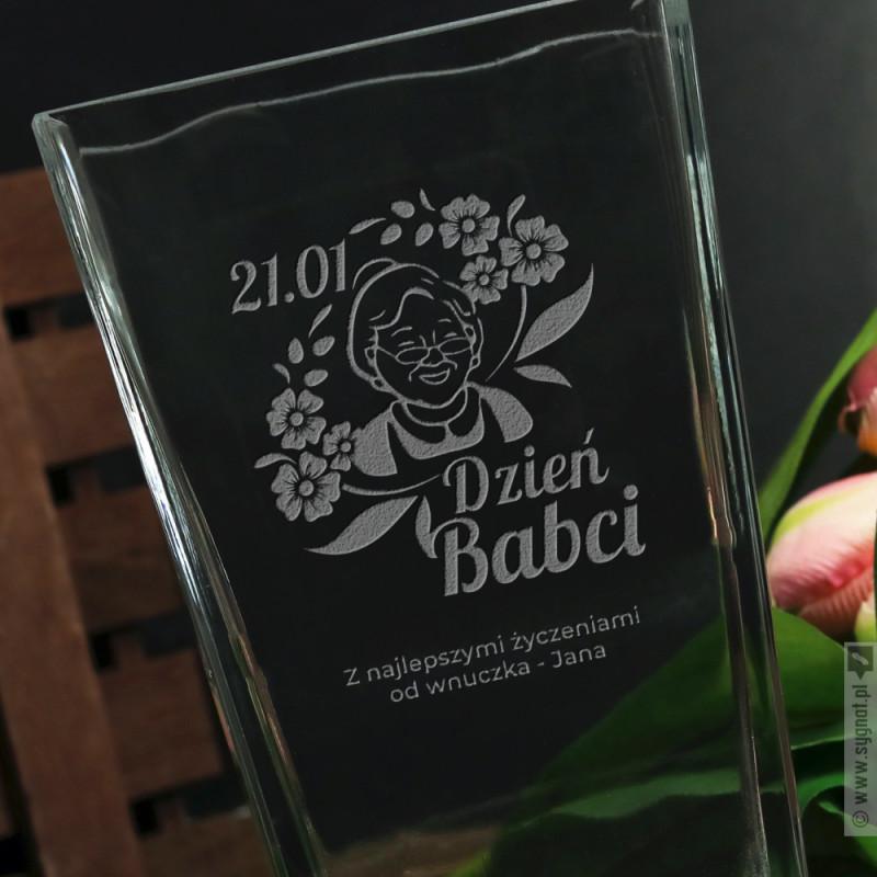 Zdjęcie produktu Wazon Babci - grawerowany wazon z personalizacją na Dzień Babci