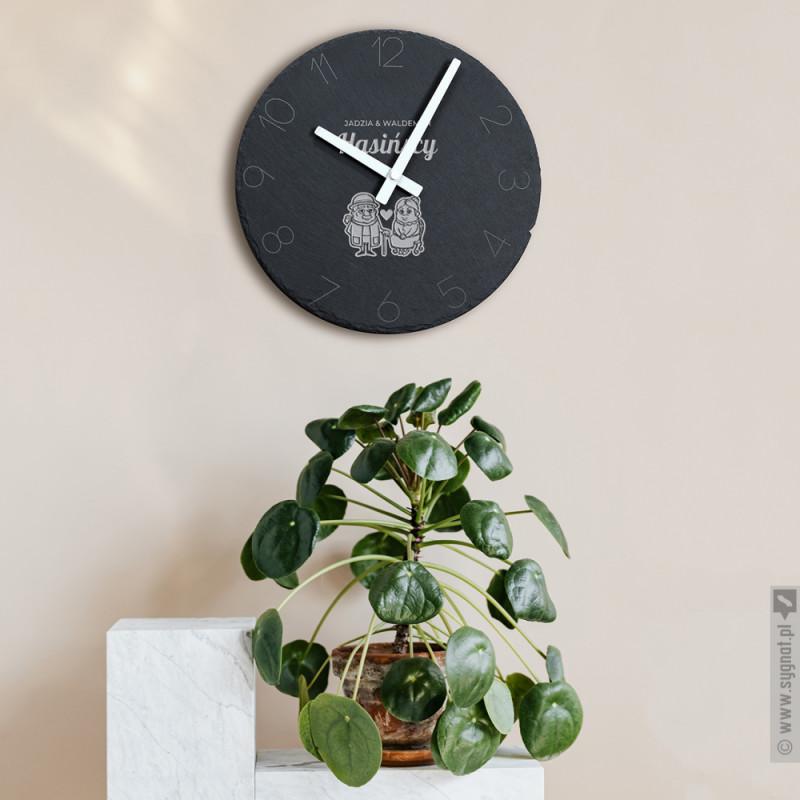 Zdjęcie produktu Zegar Babci i Dziadka - grawerowany zegar ścienny z personalizacją dla Dziadków