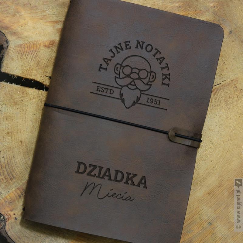 Zdjęcie produktu Tajne Notatki Dziadka - grawerowany notatnik z personalizacją dla Dziadka