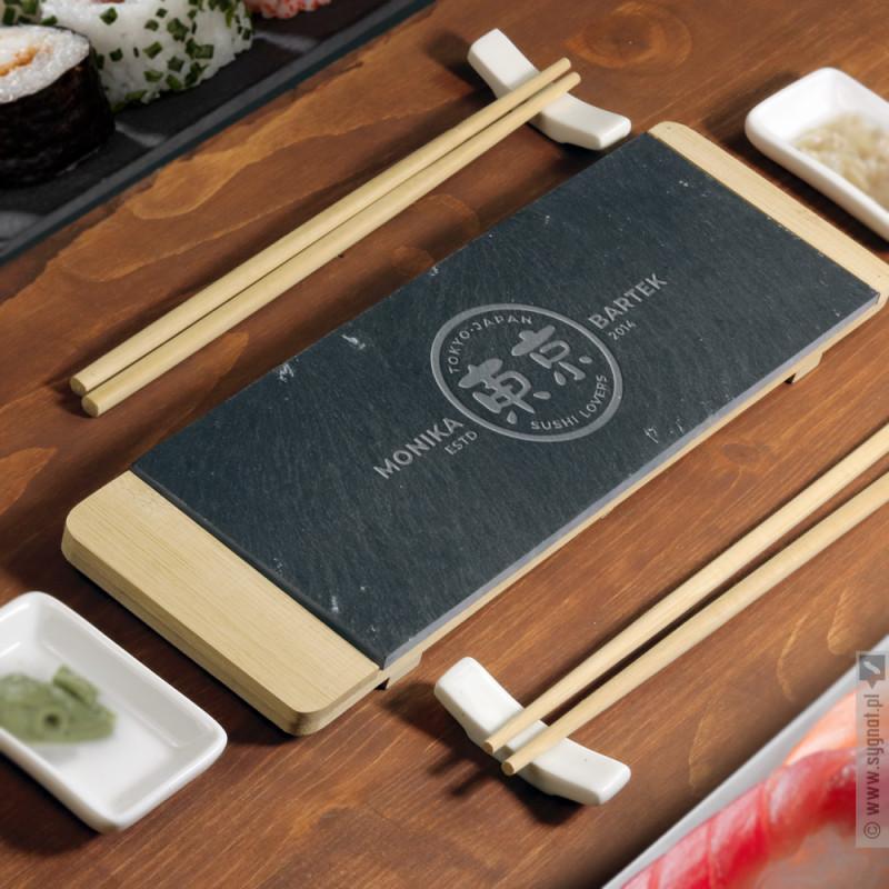 Zdjęcie produktu Sushi Lovers - grawerowany zestaw dla dwojga do sushi z personalizacją
