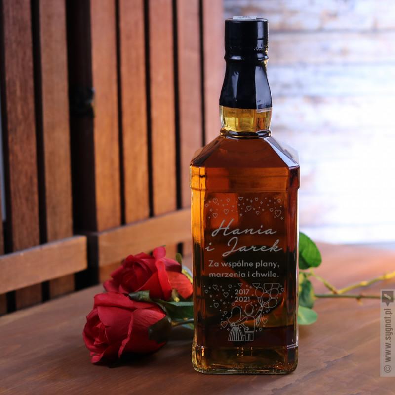 Zdjęcie produktu Za Wspólne Plany - grawerowana whiskey z personalizacją dla zakochanych