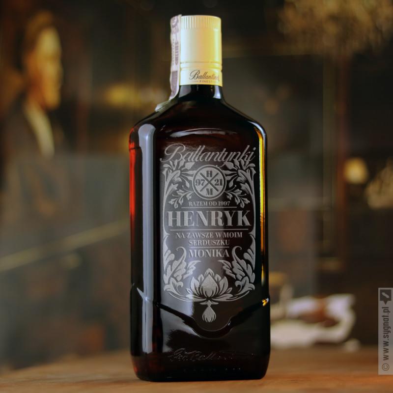 Zdjęcie produktu Ballantynki - grawerowana whisky Ballantine's z personalizacją na Walentynki