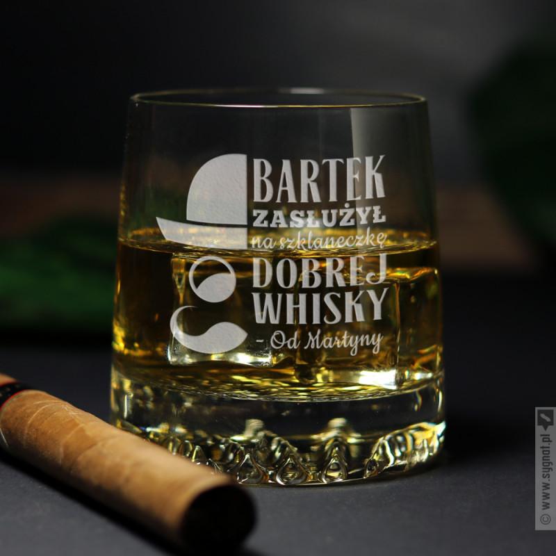 Zdjęcie produktu Szklaneczka Whisky - grawerowana szklanka z personalizacją dla niego