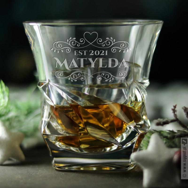 Zdjęcie produktu Heart Glass - grawerowana szklanka z personalizacją dla niej