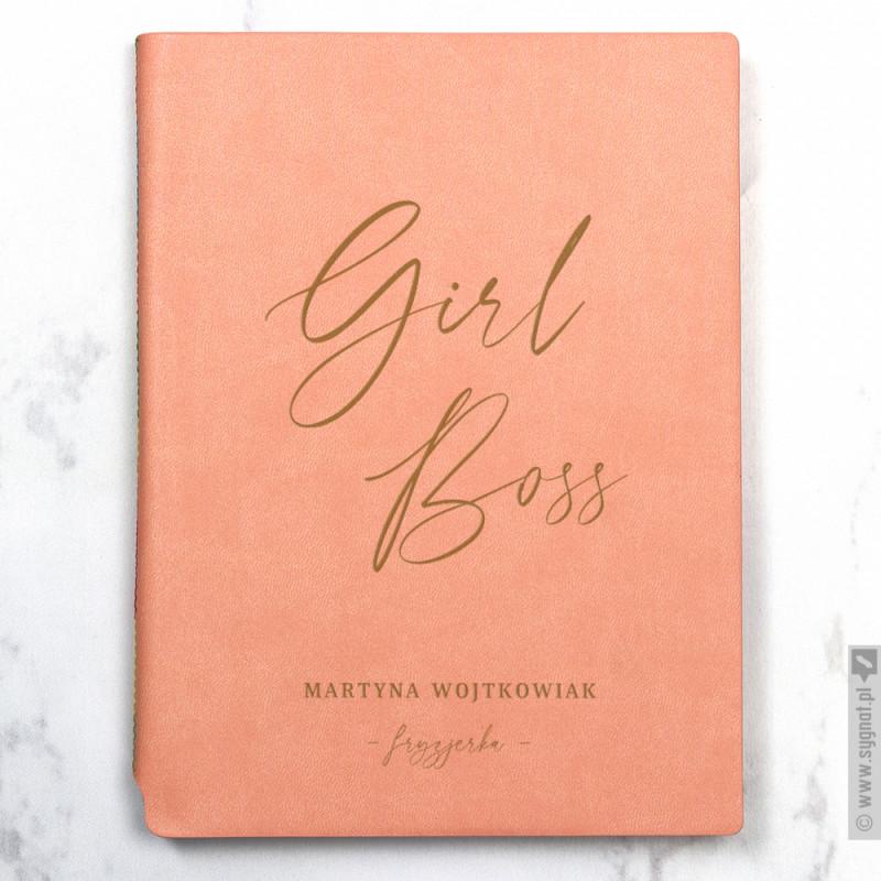 Zdjęcie produktu Girl Boss - grawerowany notatnik z personalizacją