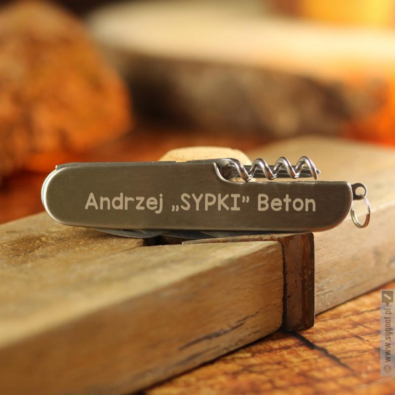 Zdjęcie produktu Metalowy scyzoryk z personalizacją
