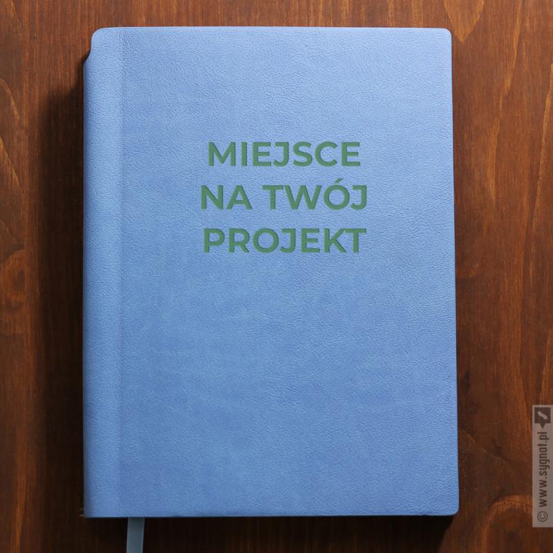 Zdjęcie produktu Niebieski notatnik z własną personalizacją