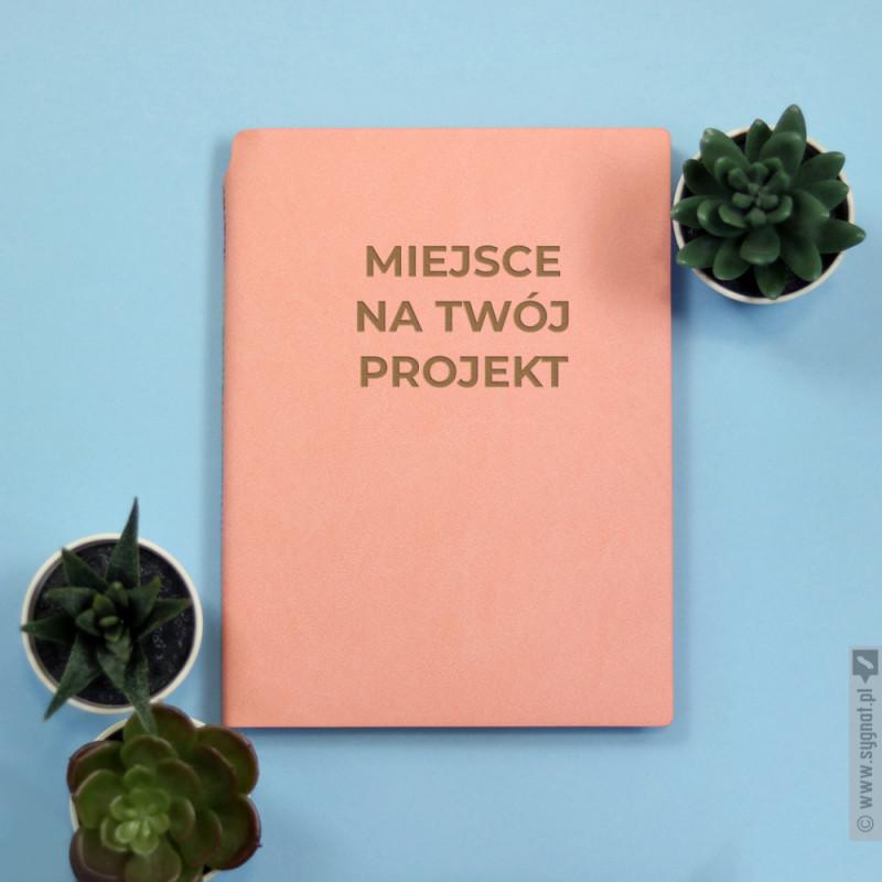 Zdjęcie produktu Różowy notatnik z własną personalizacją