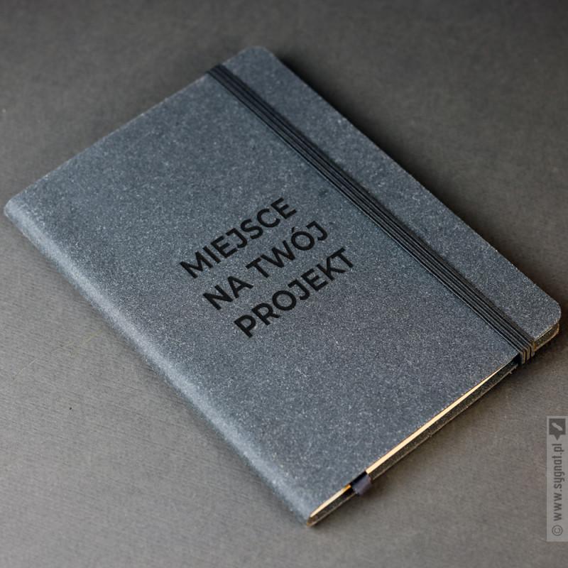 Zdjęcie produktu Grafitowy notatnik A5 z własną personalizacją