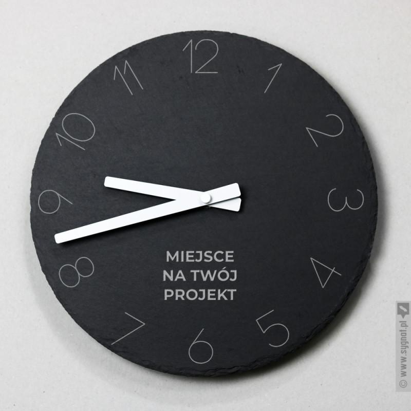 Zdjęcie produktu Kamienny zegar ścienny z własną personalizacją