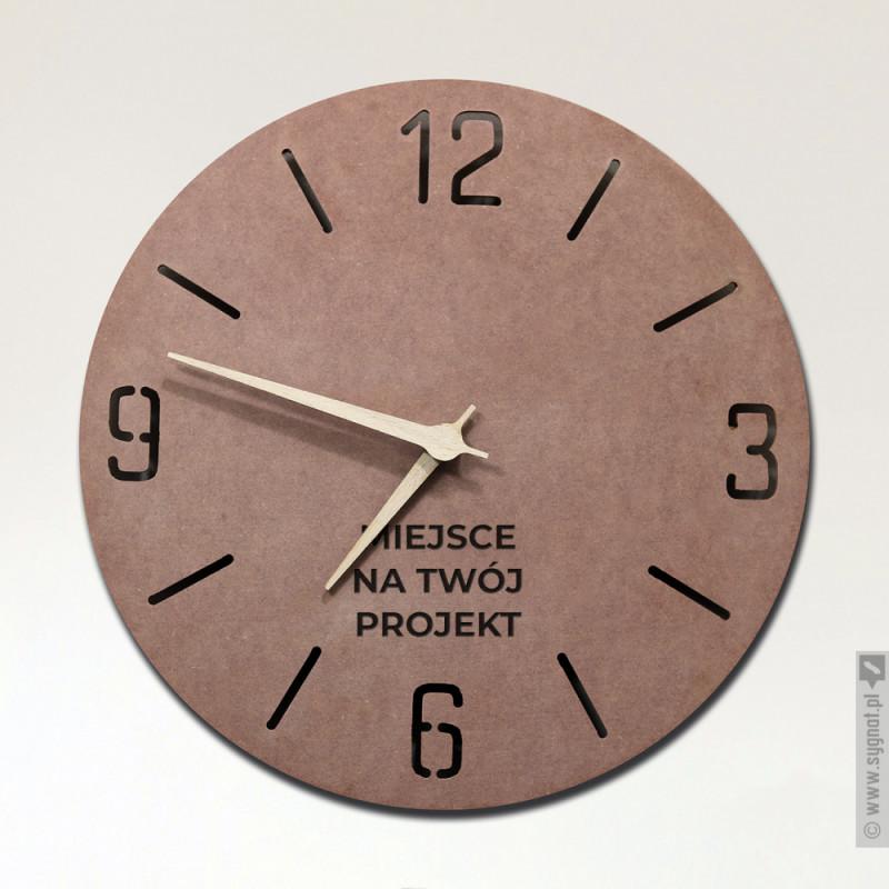 Zdjęcie produktu Drewniany zegar ścienny z własną personalizacją