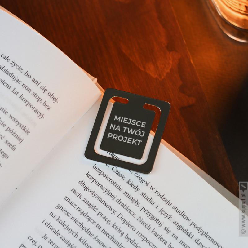 Zdjęcie produktu Grawerowana zakładka metalowa z własną personalizacją