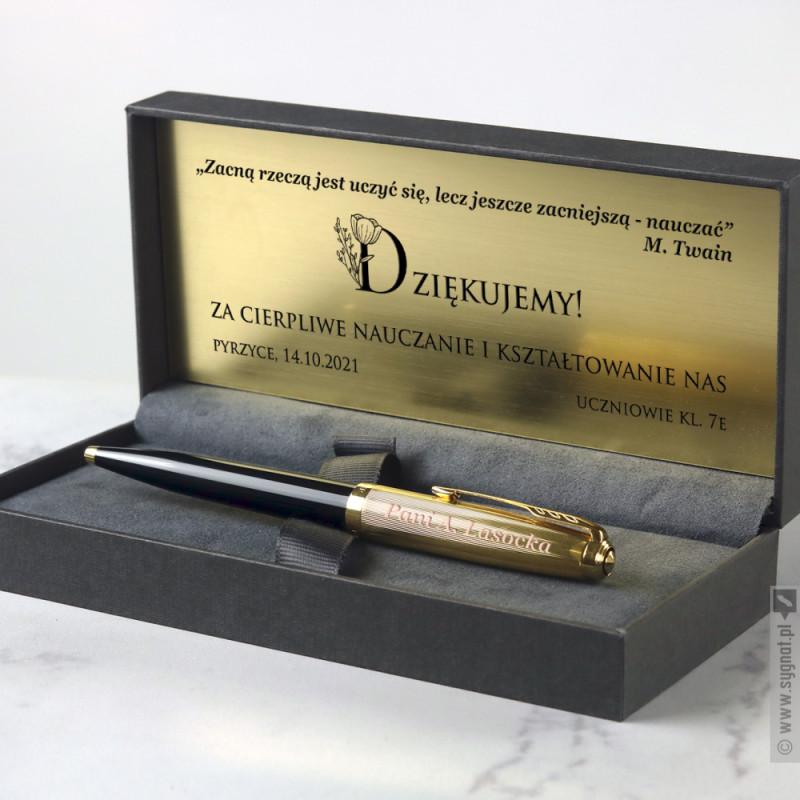 Zdjęcie produktu Podziękowanie - grawerowany długopis Parker z personalizacją na Dzień Nauczyciela